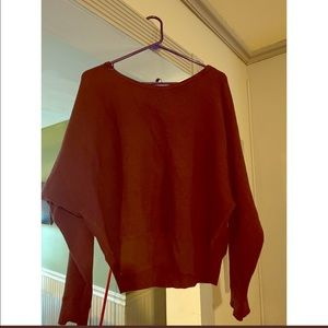 Maroon/burgundy oversized sweater from EXPRESS